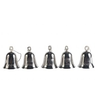 Silver Bell  6 cm tall with NOEL