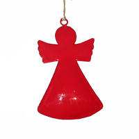 Gloss Red Angel Hanging  11.5 CM H