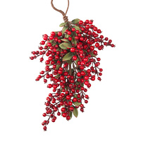 Xmas Berry Branch Door Hanger