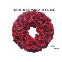 Large Red Rose Wreath