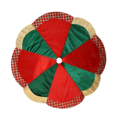 Gold Red Green Tree Skirt 120 cm