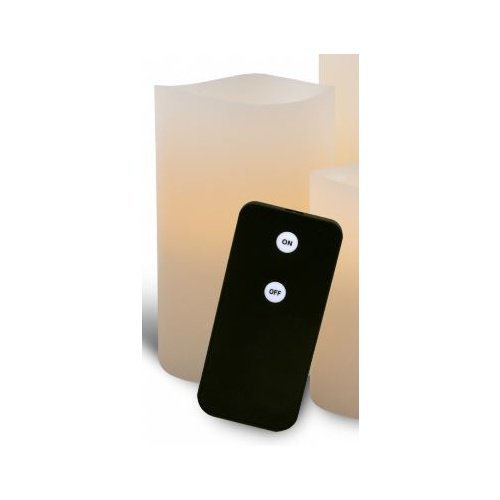Flameless Battery Power Wax LED Candle Set of 2