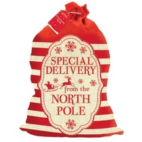 "Santa Sack  ""Special Delivery from the North Pole"""