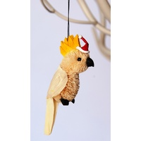 Cockatoo Bristle Decoration 9cm