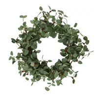 Red Berry Eucalyptus Wreath 50cm