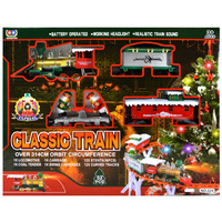 97x13cm Xmas Train set with 314cm track