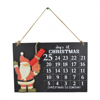 Dec Count Down to Xmas Chalk Board 20 x 30 cm
