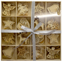 48 Pc 3cm Wood Deco / Table Scatters