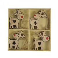 Natural Cut out Deer 13cm MDF 8pc