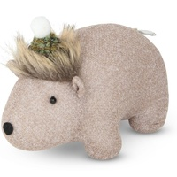 Fabric Fauna Standing Wombat with  Beanie Moss