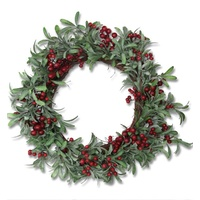 Red Berry Mistletoe Wreath 45cm