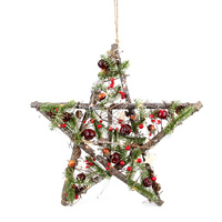 Timber Hanging Star Filbert with 10LED