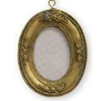 Gold Oval Frame Ornament 7.5 cm