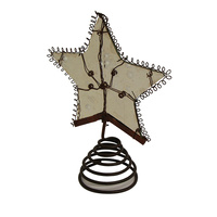 Rustic  Tree Topper Large 13 x 6 cm