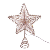 Light Up Copper Tree Topper 15cm