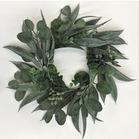 Eucalyptus Mix Grey Green 50cm Wreath