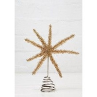 Star Tree Topper Gold Tinsel