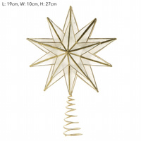 Capiz Star Tree Topper 27cm