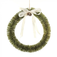 Green Bottlebrush Wreath 33cm LARGE