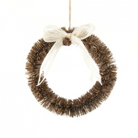 Brown Bottlebrush Wreath 22cm
