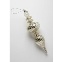 Mirrored Bulbous Finial Ornament
