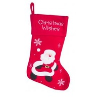 Red Felt Santa Stocking 40CM