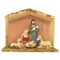 Nativity With Stable  19 X 17 cm