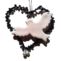Beaded Heart With Dove