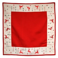 Table Topper -Red Reindeer 85 cm square