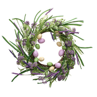 Easter Wreath with Purple 60cm