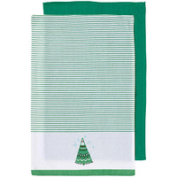 Joyful Icons  Green Tree  2pk Tea Towel 45x70cm
