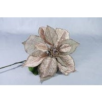 Rose Gold Burlap Poinsettia