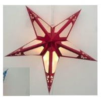 60cm LED Red Paper Star