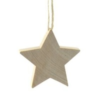 Natural Timber Star  5.5cm
