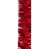 Wide Red Tinsel 2m