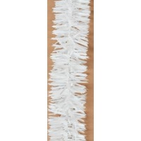 Wide White Tinsel 2m