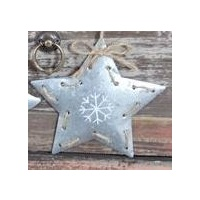 Tin Christmas Star 11 cm