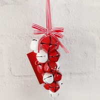 12 cm Red/White Bell Ornament