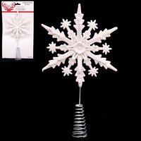 White Iridescent Tree Topper 22.5cm