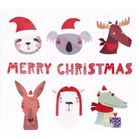 Merry Christmas Animal Fun Paper Napkin