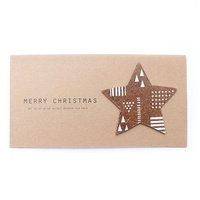 Partridge gift card with star 20x10.5 cm