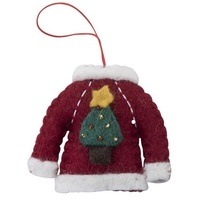 Felt Sweater with Xmas Tree. 7cm