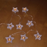 Drift Whitewash  Grey Star LED Garland 130CM