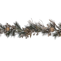 Champagne Flower and  Fern Garland 183cm
