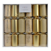 Gold Three Tone Cracker 6pk