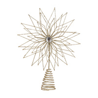 Champagne Wire Flowerburst Tree Topper 30cmH