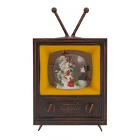 Bubble Glitter Retro Tv Snowman