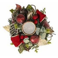 Deluxe  Flower& Fruit  With Candle Centrepiece 24 cm