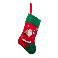 Red/Green Santa Stocking 71 cm