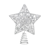 Sequinned Star Tree Topper 15 cm